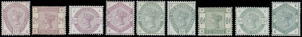 1883-84 Lilac and Green set