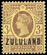 Zululand 3d purple on yellow