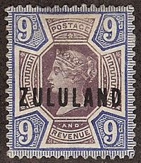 Zululand 9d purple and blue