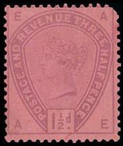 1883-84 1 1-2d Colour Trial on Rose Paper