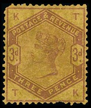 1883-84 3d Colour Trial on Yellow Paper