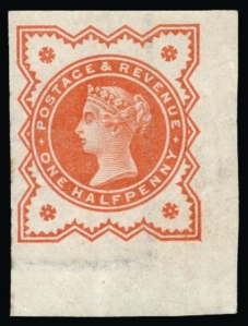 1887 1-2d Jubilee imperforate