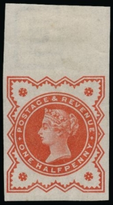 1887 1-2d vermilion Jubilee imperforate