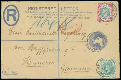 1900 1s green and carmine cover