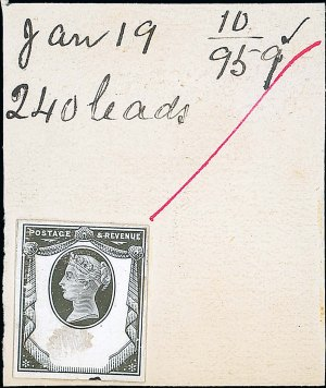1887 Jubilee 1 1-2d De La Rue Striking book piece