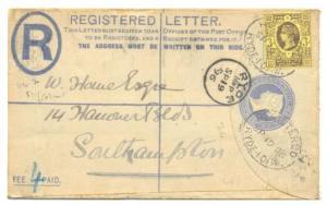 3d on Registered envelope paying 4d in registraion