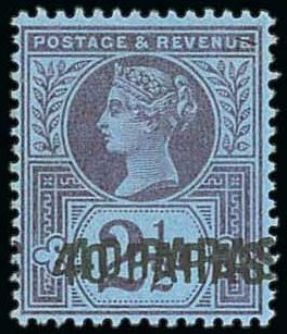 British Levant 40pa on 2 1-2d Double Overprint