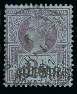 British Levant 40pa on 2 1-2d Double Overprint i