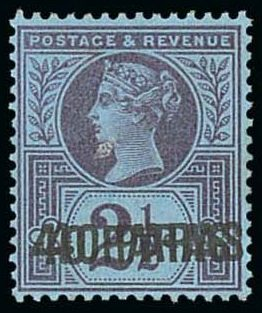British Levant 40pa on 2 1-2d Double Overprint iii