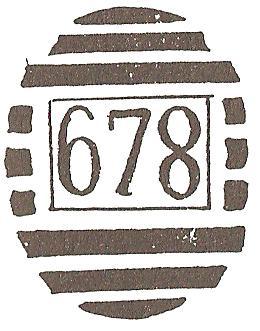 Gubulawayo 678 Numeral Cancel