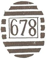 Gubulawayo 678 Numeral Cancel