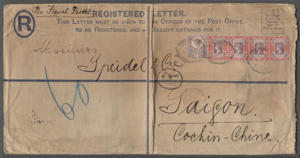 Registered cover to Saigon