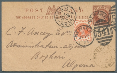 1/2d Jubilee Destination Mail to Algeria