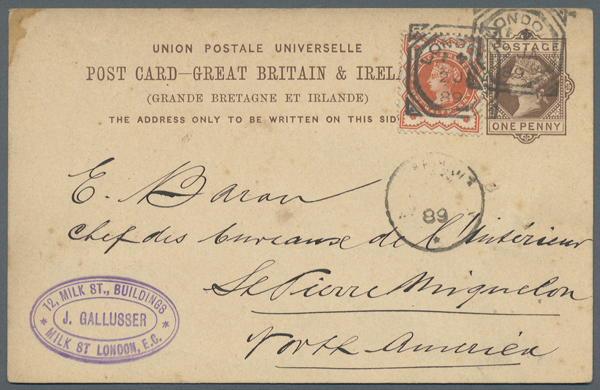 1/2d Jubilee Destination Mail to St Pierre and Miqueolon