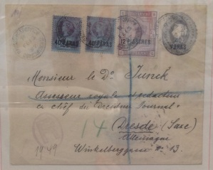 British Levant 2s6d on cover