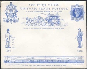Penny Postage Jubilee 1890 South Kensignton