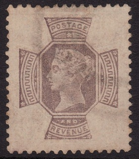 1887 9d Jubilee chemically removed colour