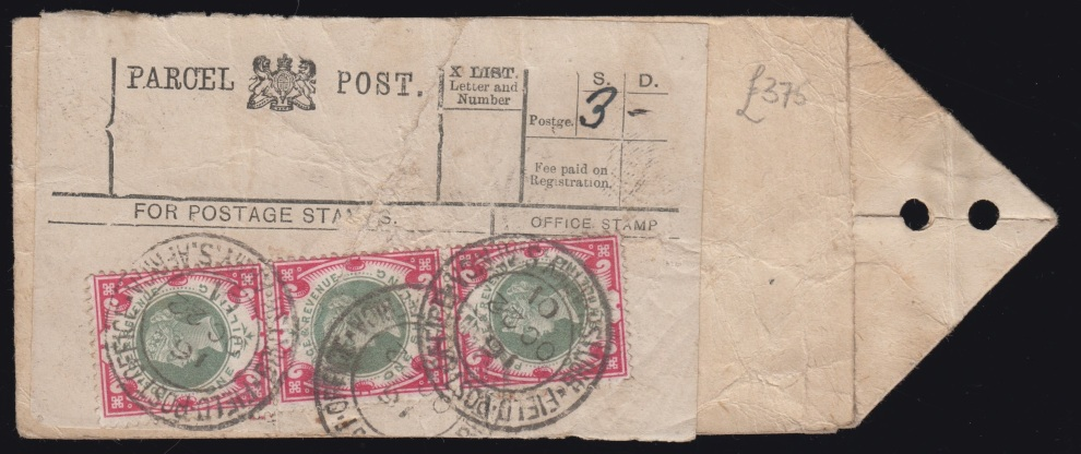 boer-war-1901-1s-green-and-carmine-parcel-post-label