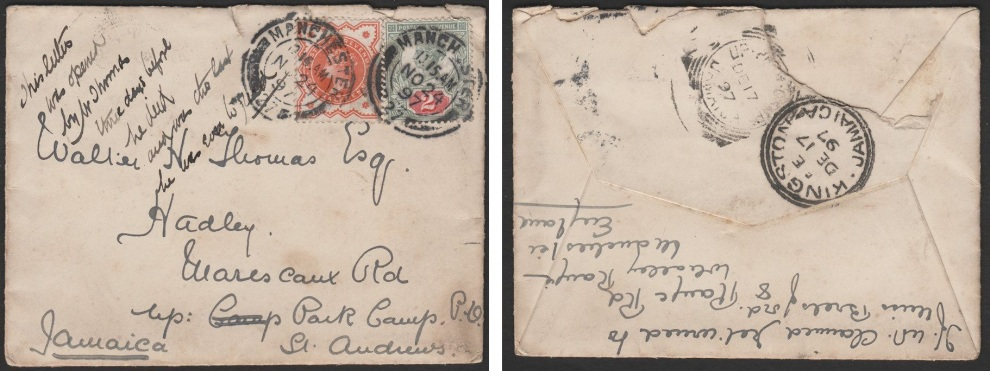 Jubilee cover to Jamaica 3.85