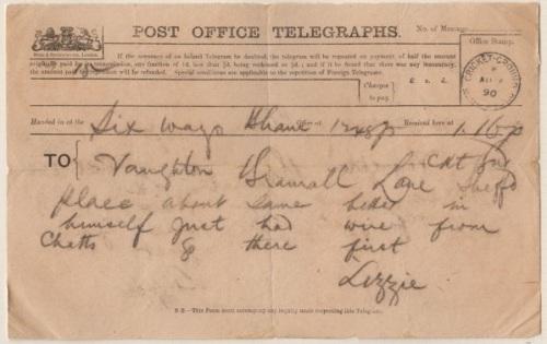 Sheffield Cricket Ground Telegram