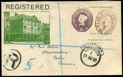 Alfred Smith Stamp Dealer advertising cover