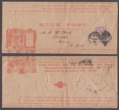 William Brown Book Post Advertising Wrapper