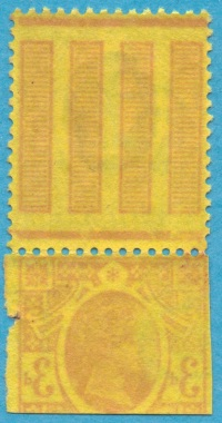 1887 3d purple on yellow offset variety