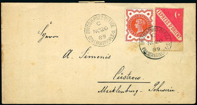Red Orient Express stamp on cover