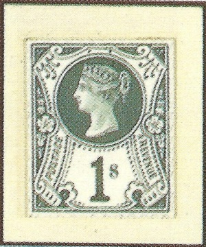 1887 Jubilee 1s Stamp Committee hand painted essay