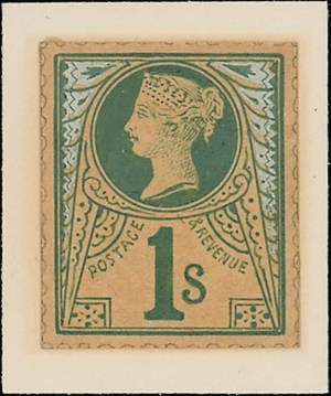 1s Jubilee Stamp Committee hand painted essay