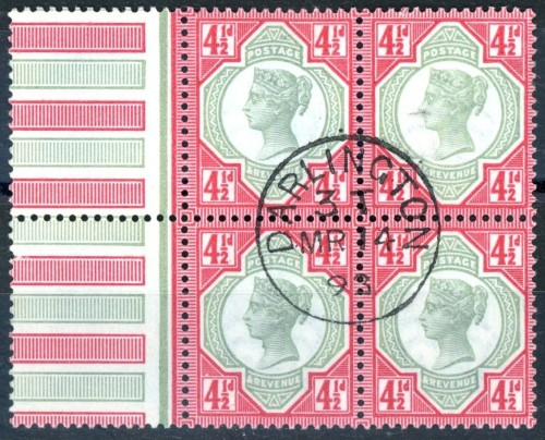1892 4 1-2d Used Block of Four 217.47