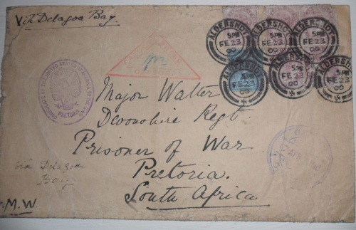 Boer War Incoming Prisoner of War Cover 164.00