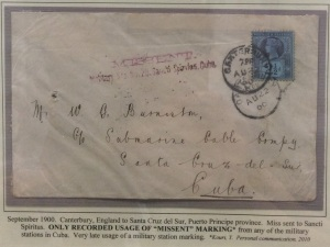 Cover missent to Cuba