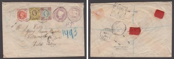 Postal stationery cover to Weltervreden, Java