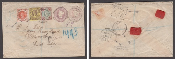Postal stationery cover to Weltervreden, Java