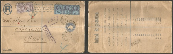 Registered cover to Batavia