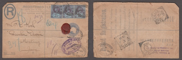 Registered cover to Halang, Java