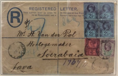 Registered cover to Soerabaja, Java
