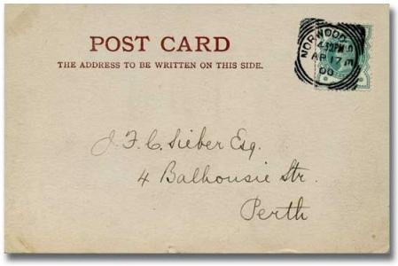 1900 Apr 17 FDC 1-2d green on postcard