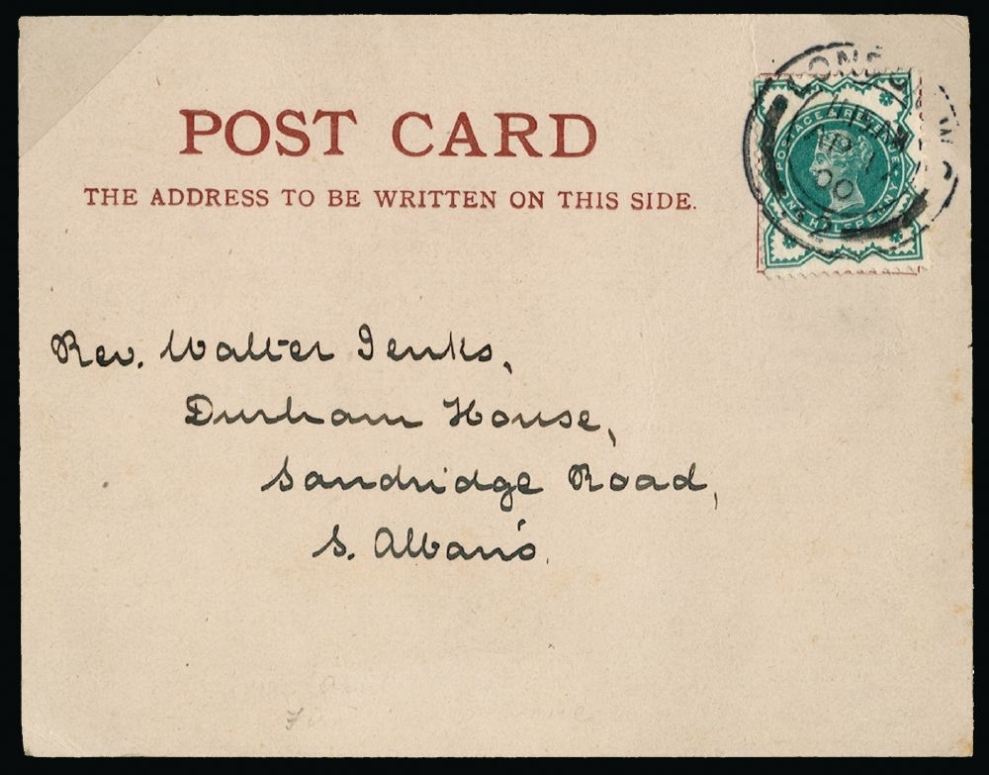 1900 April 17th 1-2d green first day cover
