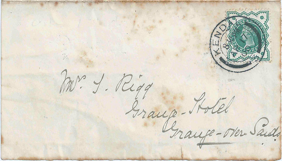 1900 April 17 FDC for 1-2d blue-green
