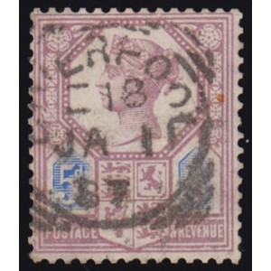 1885 5d Dull Purple and Blue first day cancel
