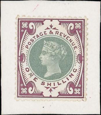 1900 1s Jubilee handpainted essay